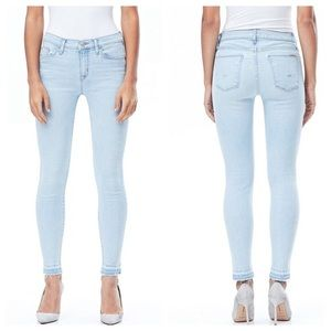 New Hudson Nico midrise ankle released hem Jeans